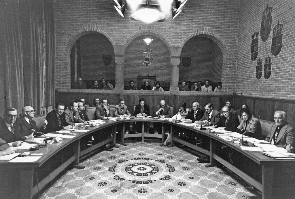 Raadzaal Leidschendam 1974 Pohlkamp